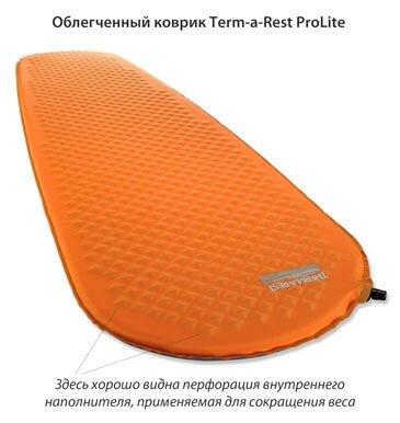 Легкий самонадувающийся коврик Therm-a-Rest ProLite