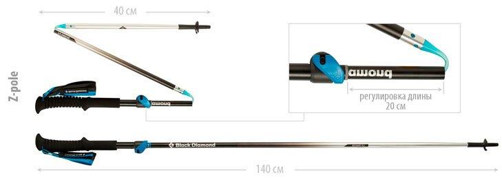 Треккинговая палка типа Z-pole