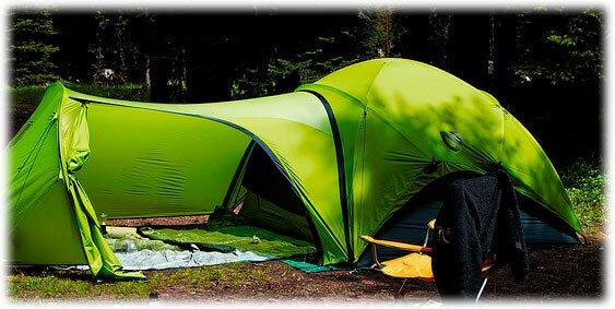 Палатка с большим тамбуром