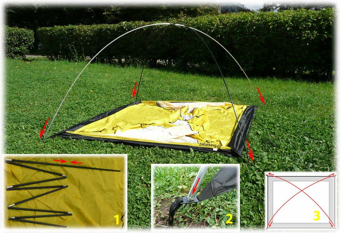 Как собрать палатку восьмеркой схема фото 580
